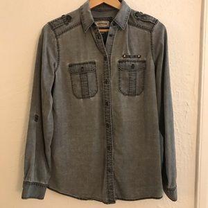 EXPRESS Boyfriend Button-down Shirt